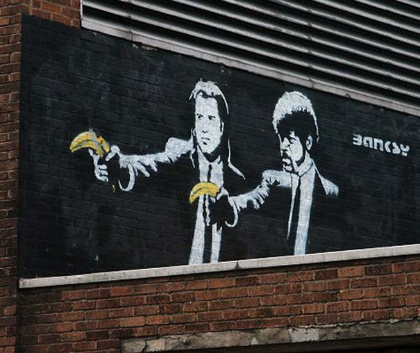 Banksy - Pulp Fiction-graffiti