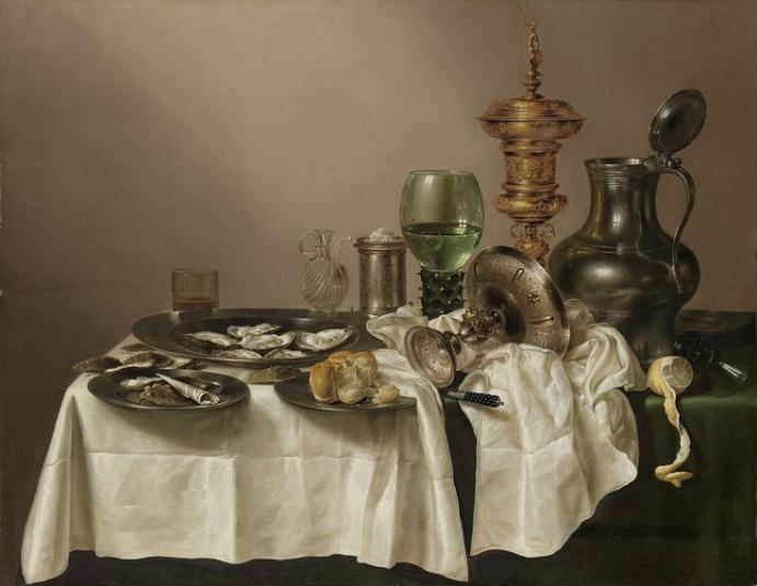Heda Willem Claesz - Stilleven met vergulde bokaal, 1635