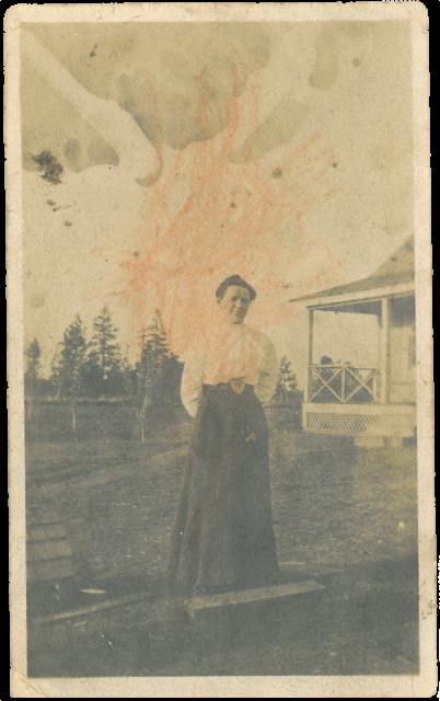 Afb. 4: de tante uit Amerika, de eerste keer in Amerika